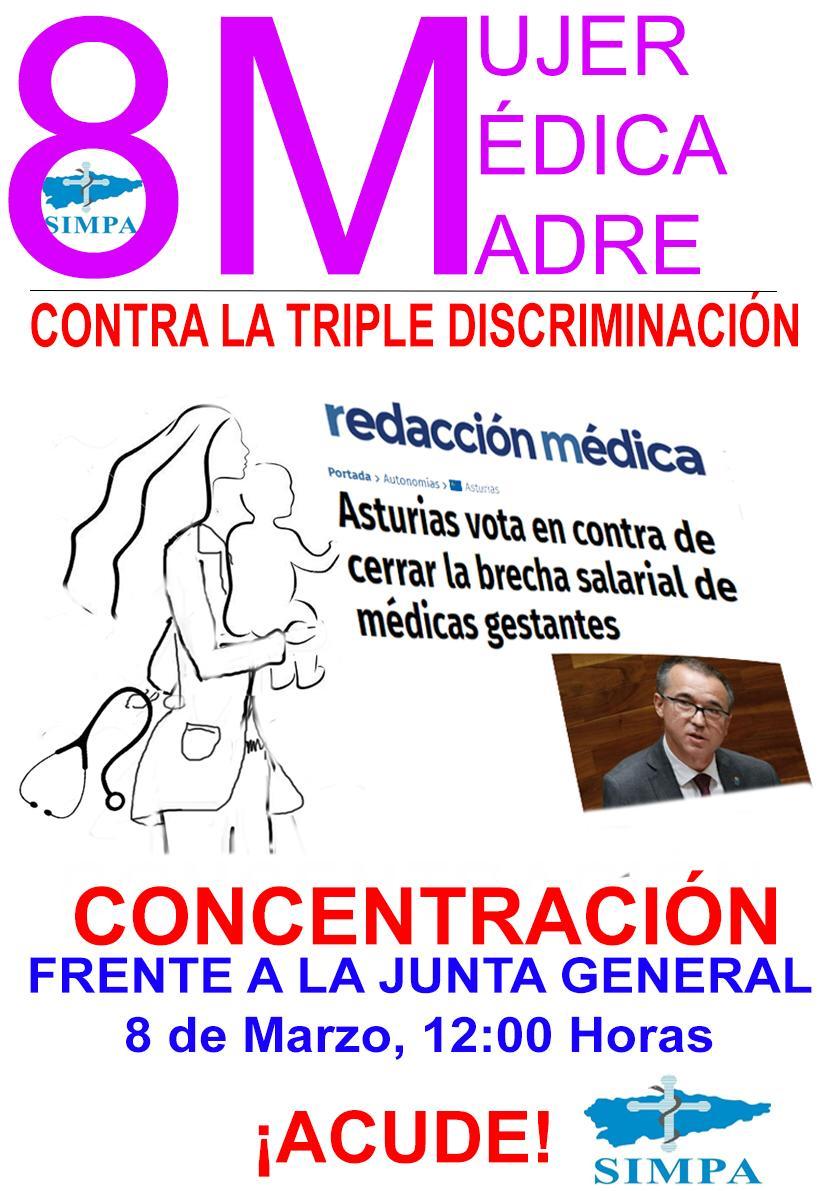 8 de Marzo CONCENTRACIÓN contra la triple discriminación.